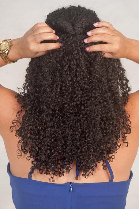 Penteado trança Passo 1